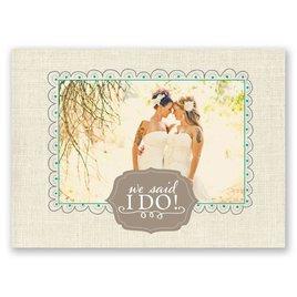 Beautiful Vows - Wedding Announcement Postcard