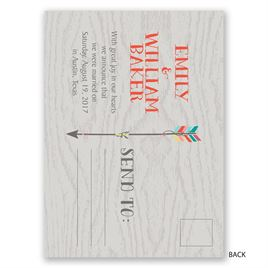 Love Struck - Wedding Announcement Postcard