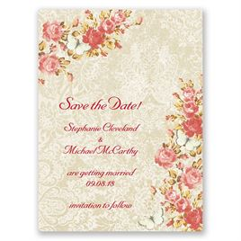 Red Save The Dates: 