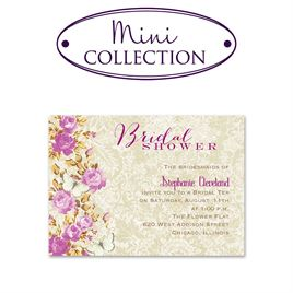 bridal shower invitations english garden mini bridal shower invitation