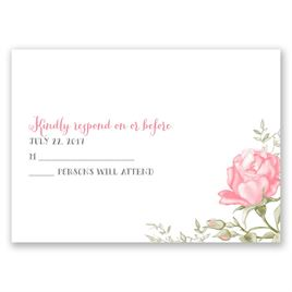 Delicate Roses - Response Card