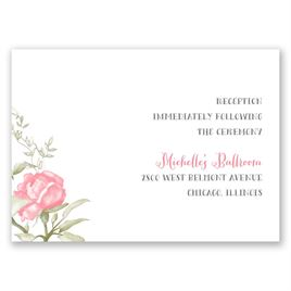 Delicate Roses - Reception Card