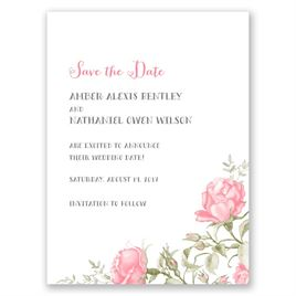 Delicate Roses - Save the Date Card