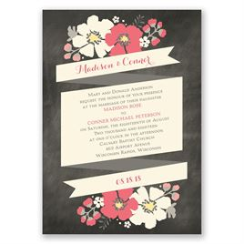 Poppy Perfection - Ecru - Invitation