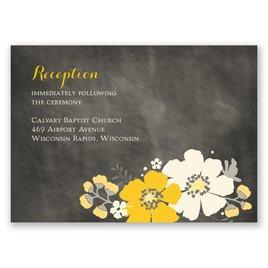 Poppy Perfection - Ecru - Reception Card