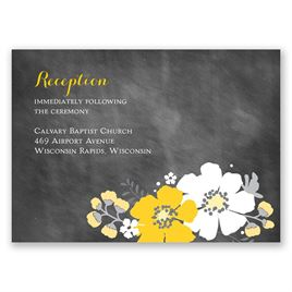 Poppy Perfection - Reception Card
