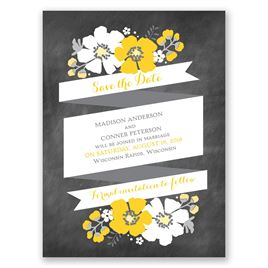 Poppy Perfection - Save the Date Card
