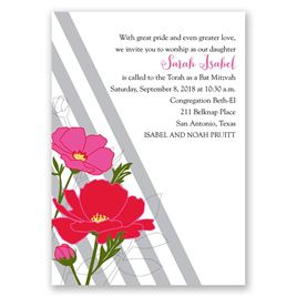Modern Floral - Mitzvah Invitation