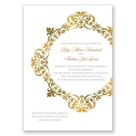 Gold Crest - Invitation