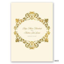 Gold Crest - Ecru - Invitation