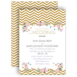 Chevron Wedding Invitations: 