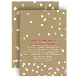 PolkaDot Wedding Invitations: 
