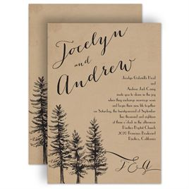Pine Tree Wedding Invitations: 
