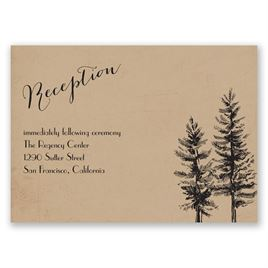 Spruced Up - Reception Card