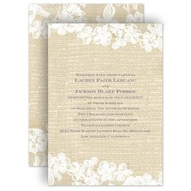 Rustic Wedding Invitations: 