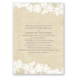 Lace Finish - Invitation