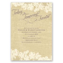 Lace Finish - Ecru - Vow Renewal Invitation