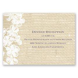 Lace Finish - Reception Card