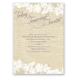 Lace Finish - Vow Renewal Invitation
