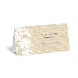 Lace Finish - Escort Card