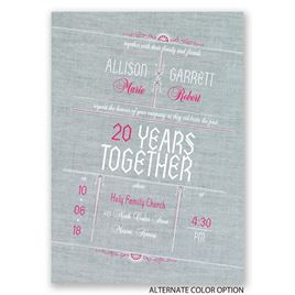 Denim Dream - Anniversary Invitation