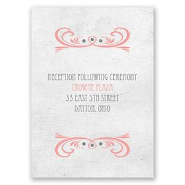 Forever Smiling - Reception Card