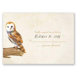 Vintage Owls - Response Card