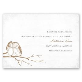 Owl Be Yours - Reception Card