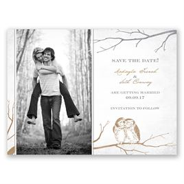 Owl Be Yours - Save the Date Card