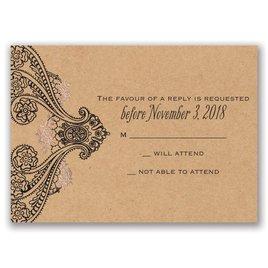 Henna Allure - Rose Gold - Foil Response Card