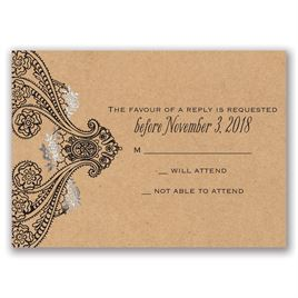 Henna Allure - Silver - Foil Response Card