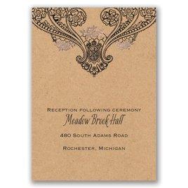 Henna Allure - Rose Gold - Foil Reception Card