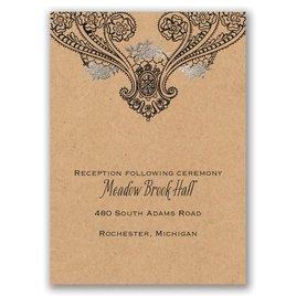 Henna Allure - Silver - Foil Reception Card