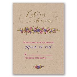 Lovable Roses - Gold - Foil Response Card