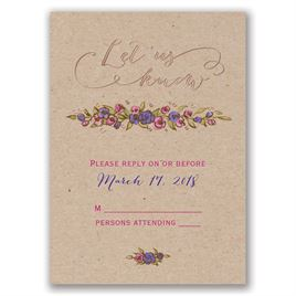 Lovable Roses - Rose Gold - Foil Response Card