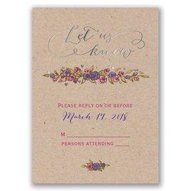 Lovable Roses - Silver - Foil Response Card