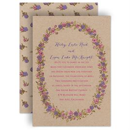 Purple Wedding Invitations: 