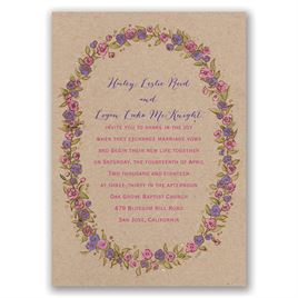 Lovable Roses - Gold - Foil Invitation