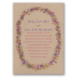 Lovable Roses - Rose Gold - Foil Invitation