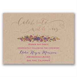 Lovable Roses - Rose Gold - Foil Reception Card