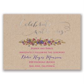 Lovable Roses - Silver - Foil Reception Card