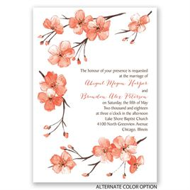 Blooming Border - Gold - Foil Invitation