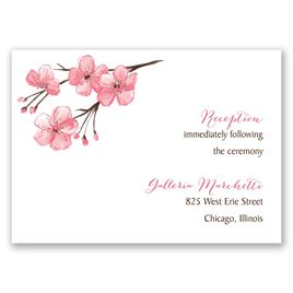 Blooming Border - Rose Gold - Foil Reception Card