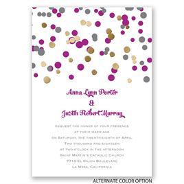 We Spotted Love - Gold - Foil Invitation