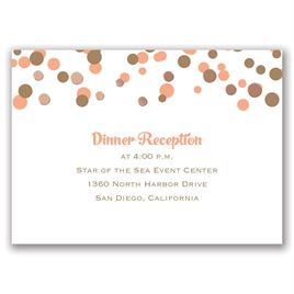 We Spotted Love - Rose Gold - Foil Reception Card
