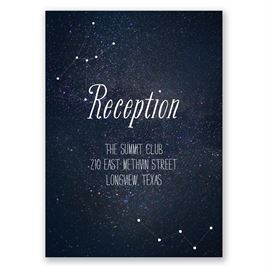 Star Gazer - Reception Card