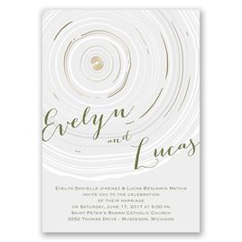 Promise Rings - Gold - Foil Invitation