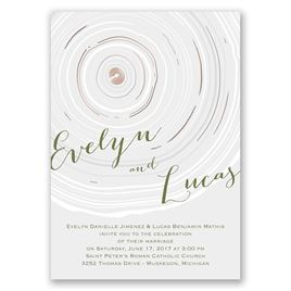 Promise Rings - Rose Gold - Foil Invitation
