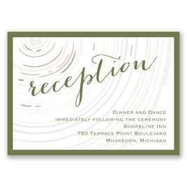 Promise Rings - Rose Gold - Foil Reception Card