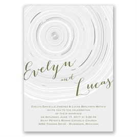 Promise Rings - Silver - Foil Invitation
